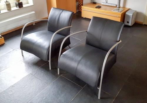 Leren fauteuils